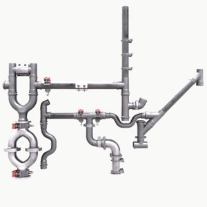 3D pipe clamp pack model