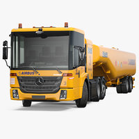 mercedes-benz econic aviation refueler 3D