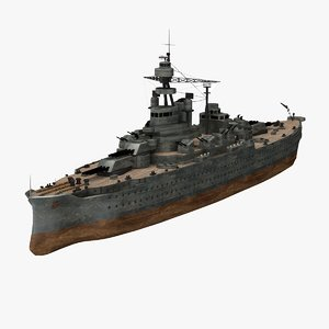3d uss pennsylvania 38 ship model
