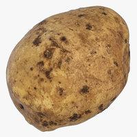 3D model potato 04