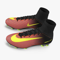 3D model soccer cleats nike mercurial