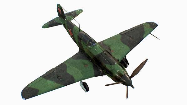 3D russian soviet fighter aircraft