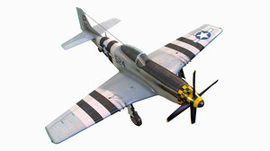 3D model united states american fighter aircraft