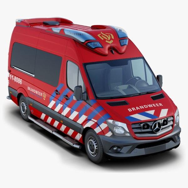 3D model mercedes-benz sprinter fire-brigade