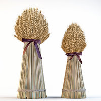 Decorative sheaves of wheat ears