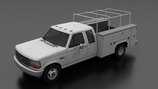 f-350 drw supercab service 3D model