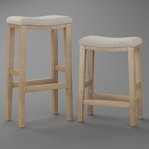 3D pb selma bar counterstool model