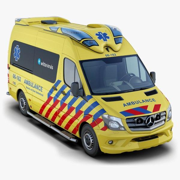 mercedes-benz sprinter ambulance 3D model