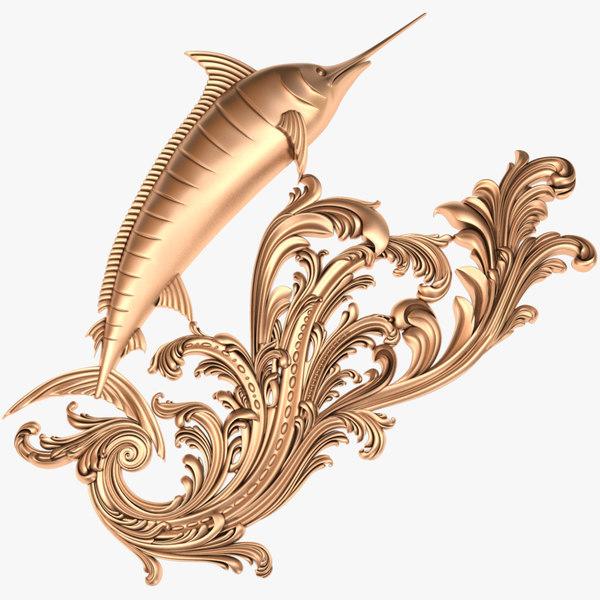 fish x3 marlin 3D