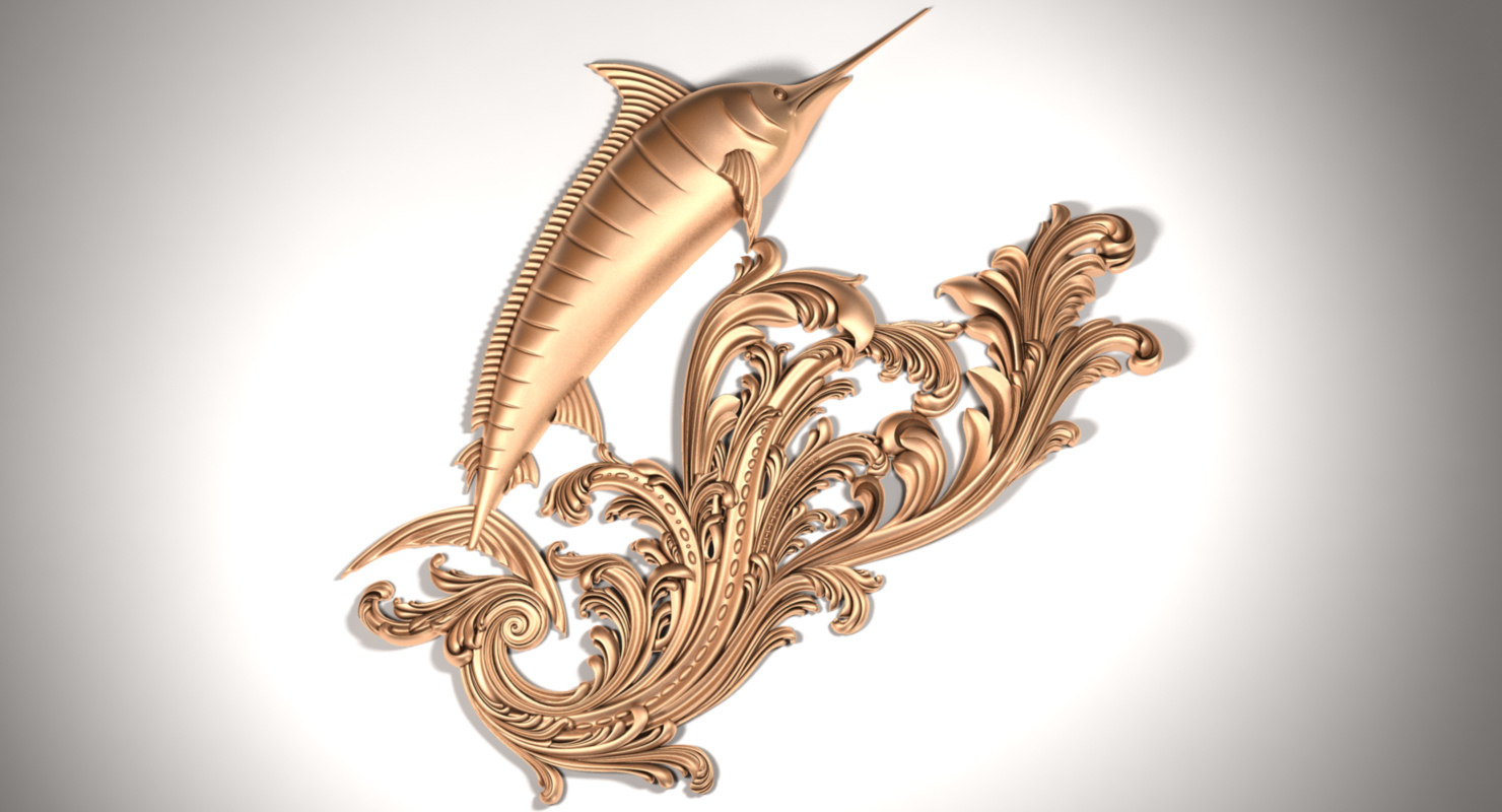 fish x3 marlin 3D