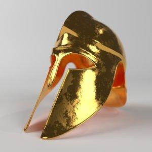3D model greek helmet