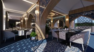 3D persian restaurant interior