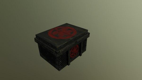 3D model abandoned treasure box