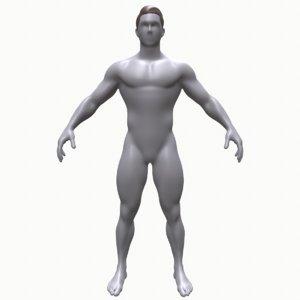 3D base mesh man