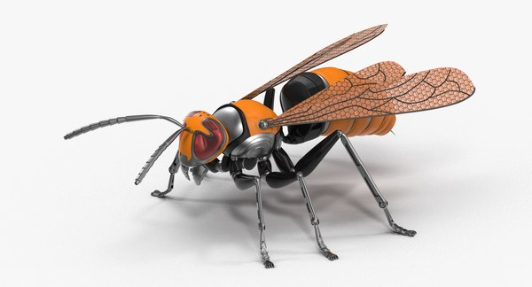 3D mechanical wasp model