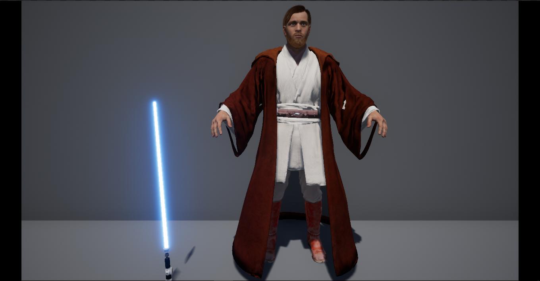 star wars obi-wan kenobi 3D model