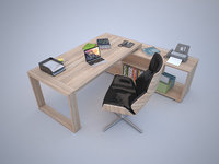 MOdern Office Desk with Chair 2