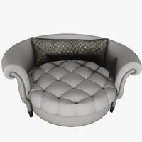 Modern Armchair Confortable 3D model