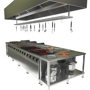 3D commerical kitchen oven model