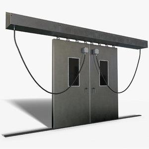 electric fridge door lock 3D model
