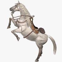 white horse animal 3D model