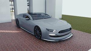 3D car blender eevee brandless