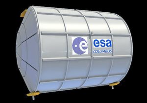 iss module columbus 3D model