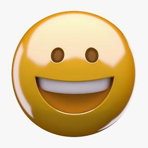 3D emoji grinning face