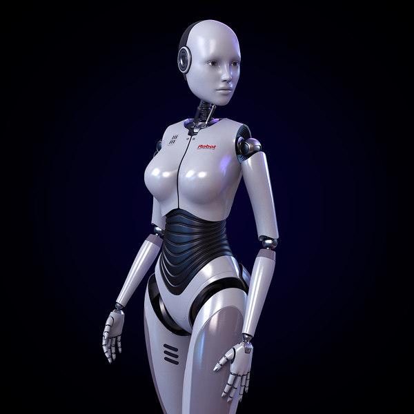 3D evo-rd403 rigged fembot