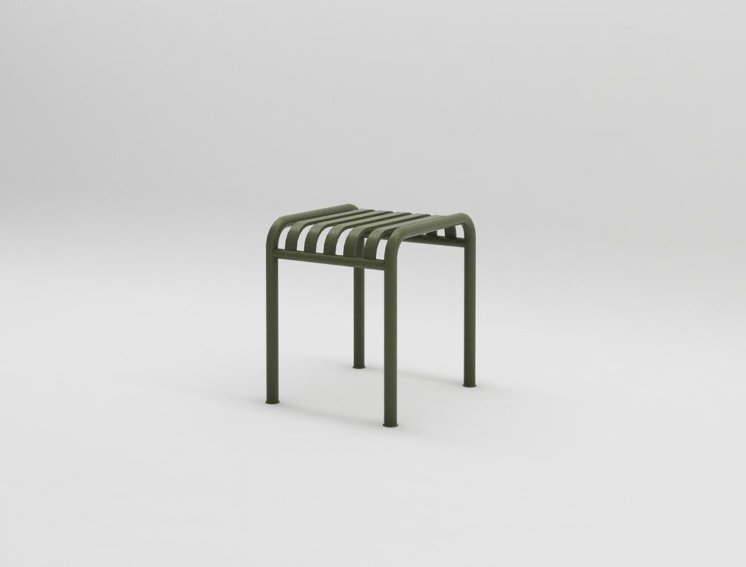 3D palissade stool design interior
