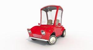 3D cute car wheels cartoon model