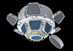 iss module cupola model