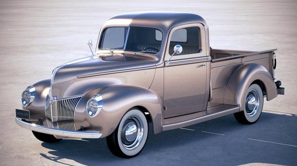 pickup 1940 3D model