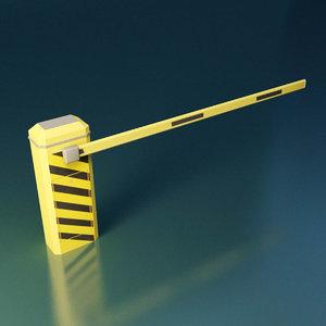 boom gate 3D model