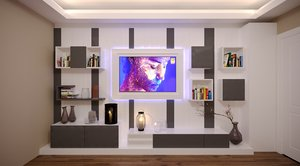 tv unit decoration model