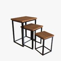 nesting tables 3D model