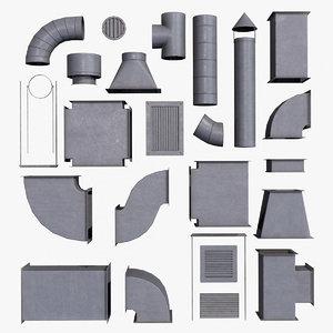 pbr air ventilation duct 3D