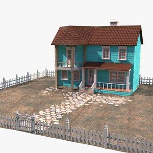 3D villa house 1