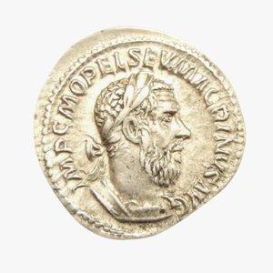 roman coin silver 3D