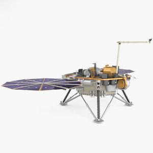 insight mars lander 3D