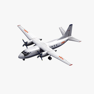 xian y-7 transport aircraft 3D model