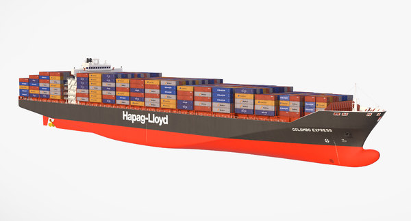 3D containers cargo ship pro