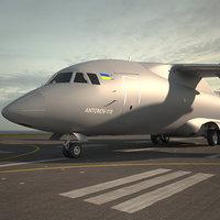 3D model antonov an-178