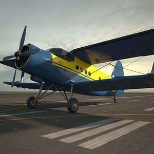3D antonov an-2 model
