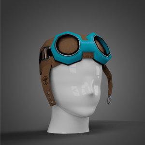 hat aviator 3D model