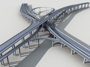 3D flyover highway