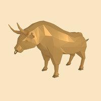 3D bull figurine