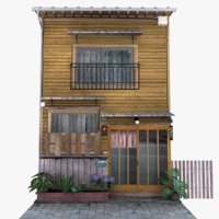 osaka townhouse building 3D