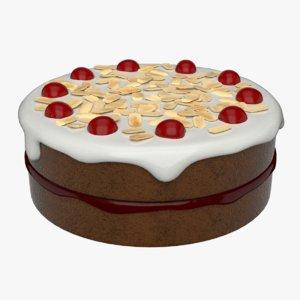 cherry cake 3D model