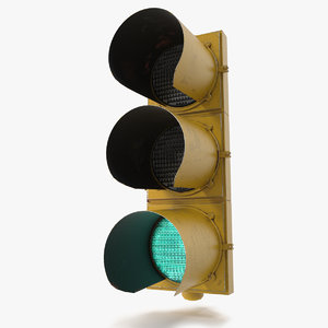 ready pbr traffic light 3D